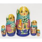 Nesting doll Sergiev-Posad 5 pcs. Spring M