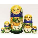 Nesting doll Sergiev-Posad 5 pcs. Summer M