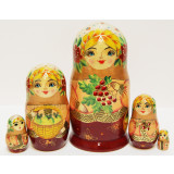 Nesting doll Sergiev-Posad 5 pcs. Autumn M