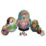Nesting doll Sergiev-Posad 10 pcs. Santa