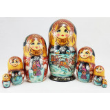 Nesting doll 7 pcs. Russian fairy tales