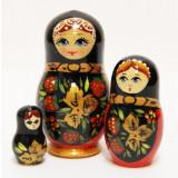 Nesting doll Sergiev-Posad 3 pcs. Gold Khohloma 3 pl