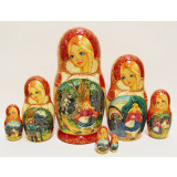 Nesting doll 7 pcs. Red Cap, Farytale