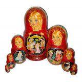 Nesting doll 7 pcs. Three Maidens