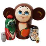 Nesting doll 5 pcs. Chebyrashka big