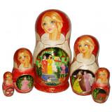 Nesting doll 5 pcs. Tsar Saltan B