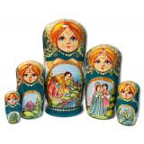 Nesting doll 5 pcs. The Frog Princess, Kirzhach