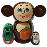 Nesting doll 3 pcs. Chebyrashka small
