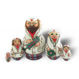 "Nesting doll 5 pcs. 5 pcs ""doctors"""