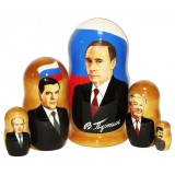 Nesting doll political leaders Putin