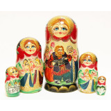 Nesting doll 5 pcs. The accordion player