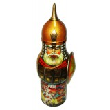 Nesting doll Case for bottle Russian hero 0.7