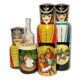 Nesting doll Case for bottle The hussar 0,7 l
