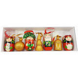 New Year and Christmas christmas tree toy a set of matryoshka dolls...