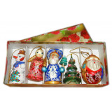 New Year and Christmas christmas tree toy set 5 pcs.