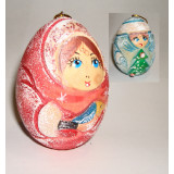 New Year and Christmas christmas tree toy Egg carved the Snow Maiden