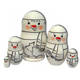 Nesting doll prepared for paint, prepared for paint, snowballs, 8