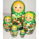 "Nesting doll Semenovo Gouache Semenovo ""Summer"" 16"
