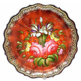 Zhostovo tray red
