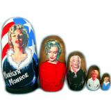 Nesting doll popular singers Merelin Monro
