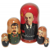 Nesting doll political leaders Lenin