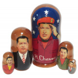 Nesting doll political leaders Hugo Chavez