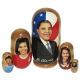 Nesting doll political leaders Barack Obama, family
