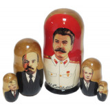 Nesting doll political leaders Stalin