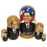 Nesting doll political leaders Barack Obama, The American presidents