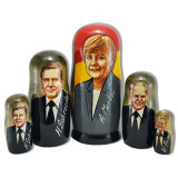 Nesting doll political leaders Angela Merkel