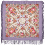 Pavlovo Posad Shawl Pavlovoposadskij with wool fringe 89 x 89...