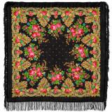 Pavlovo Posad Shawl Pavlovoposadskij with wool fringe 125 x 125...