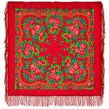 Pavlovo Posad Shawl Pavlovoposadskij with wool fringe 89 x 89 190-5...