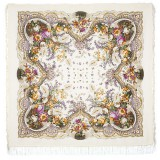 Pavlovo Posad Shawl Pavlovoposadskij with wool fringe 146 x 146...