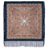 Pavlovo Posad Shawl Pavlovoposadskij with wool fringe 89 x 89 681-13