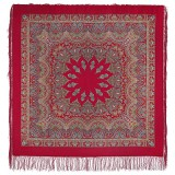 Pavlovo Posad Shawl Pavlovoposadskij with wool fringe 125 x 125...
