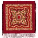 Pavlovo Posad Shawl Pavlovoposadskij with wool fringe 89 x 89...