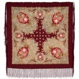 Pavlovo Posad Shawl Pavlovo Posad with silk fringe 89 x 89 845-7...
