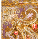 Pavlovo Posad Shawl Pavlovo Posad with silk fringe 89 x 89 681-16...