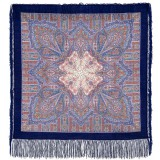 Pavlovo Posad Shawl Pavlovoposadskij with wool fringe 89 x 89 1157-13