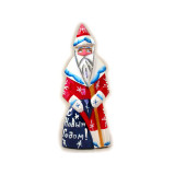 New Year and Christmas carved wooden toy Santa Claus