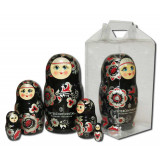 Nesting doll 3 pcs. with a flas card, with logo under the...