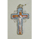 Enamel pectoral cross cross small