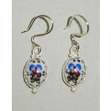 Enamel earrings Earrings the Cinderella