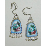 Enamel earrings Earrings the Hand bell