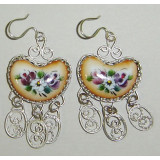 Enamel earrings Earrings Russian