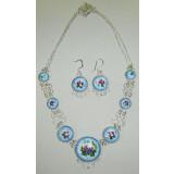 Enamel necklace Necklace Flowering