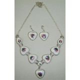 Enamel necklace Necklace the Heart