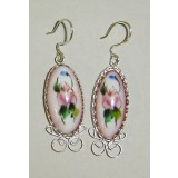 Enamel earrings Earrings the Madam