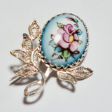 Enamel brooch Brooch the Bud
